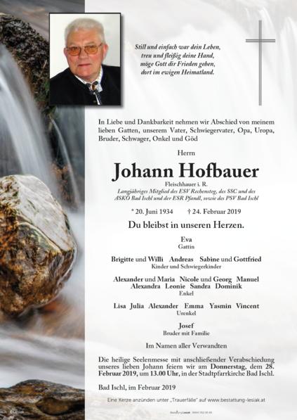 Johann Hofbauer