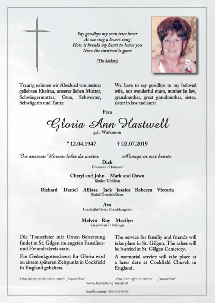 Gloria Ann Hastwell