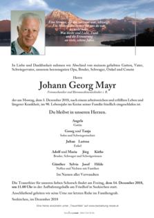 Johann Georg Mayr