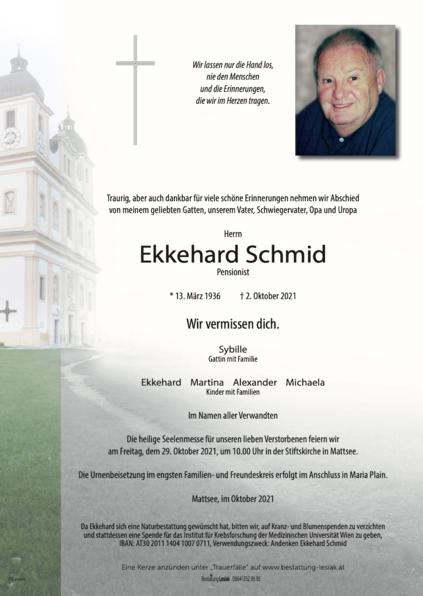 Ekkehard Schmid