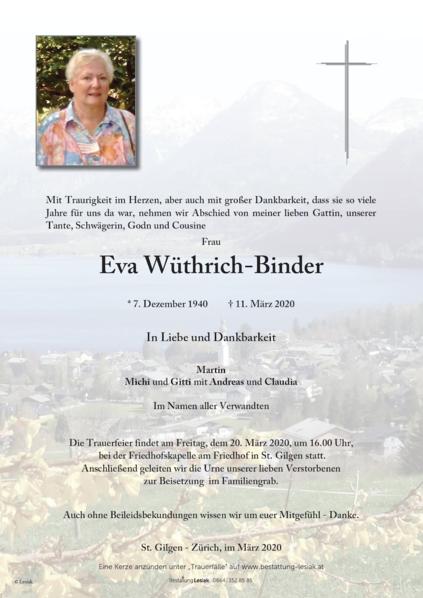 Eva Wüthrich-Binder