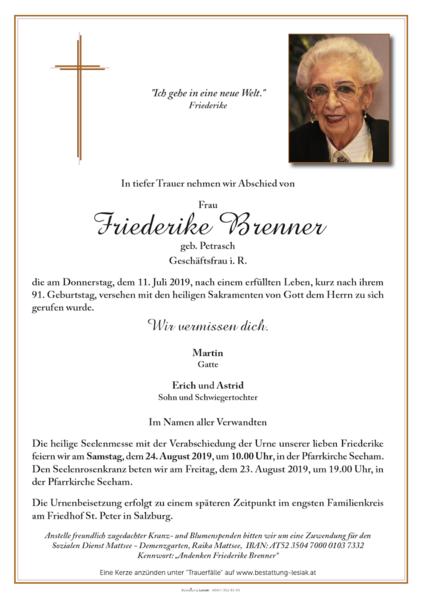Friederike Brenner