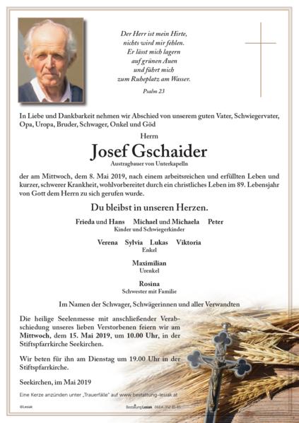 Josef Gschaider