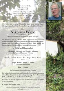 Nikolaus Wickl