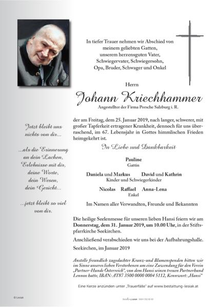 Johann Kriechhammer