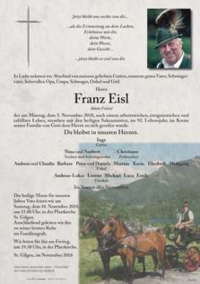 "Franz Eisl ""Adam Franzl"""