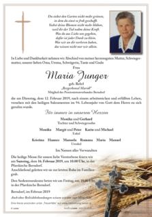 """Maria Junger """"Bergerhonal Maridl"""""""