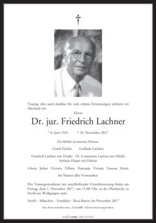 Dr. jur. Friedrich Lachner