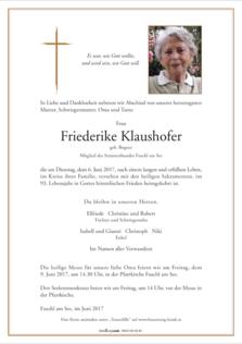 Friederike Klaushofer