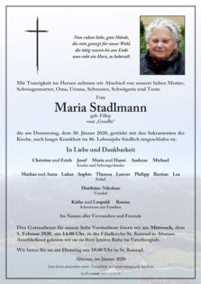 """Maria Stadlmann vom """"Gondln"""""""