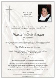 Maria Hinterberger