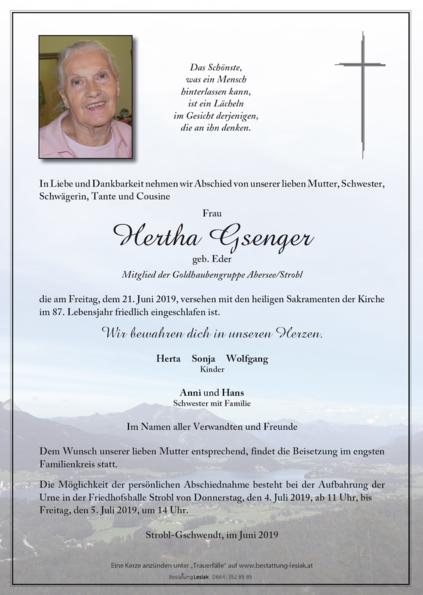 Hertha Gsenger