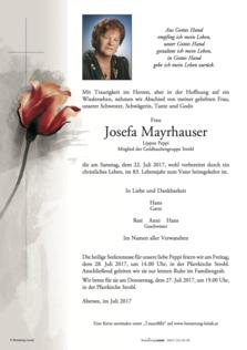 Josefa Mayrhauser