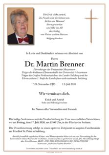 Dr. Martin Brenner