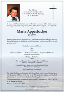 Maria Appesbacher - Meindlbäuerin
