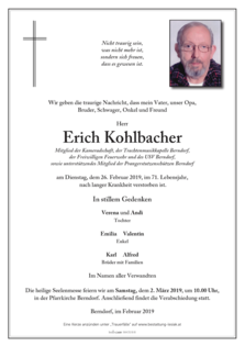 Erich Kohlbacher