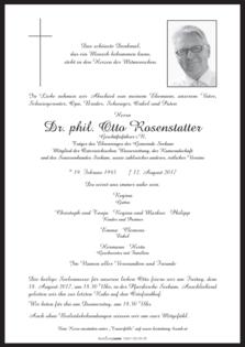 Dr. phil. Otto Rosenstatter
