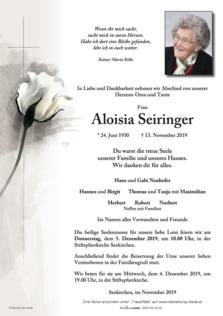 Aloisia Seiringer