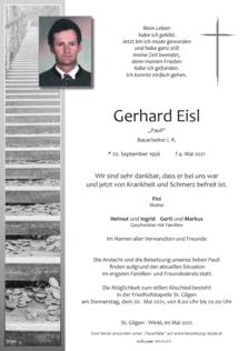 "Gerhard Eisl ""Pauli"""