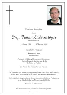 Ing. Franz Lichtenstöger