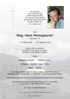 Mag. Hans Moosgassner