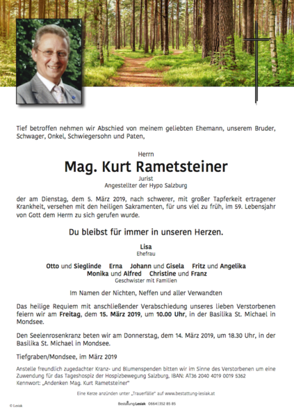 Mag. Kurt Rametsteiner