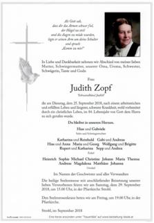 """Judith Zopf """"Schwandhäusl Judith"""""""