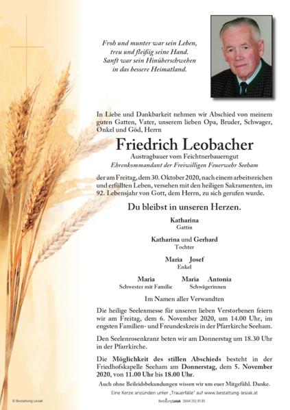 Friedrich Leobacher
