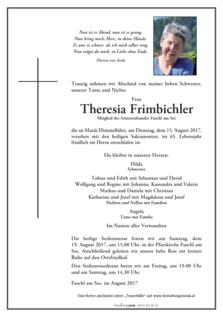 Theresia Frimbichler