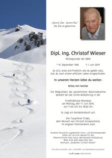 Dipl. Ing. Christof Wieser
