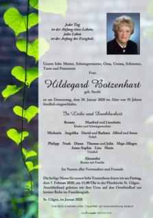 Hildegard Botzenhart