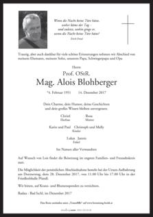 Prof. OStR. Mag. Alois Blohberger