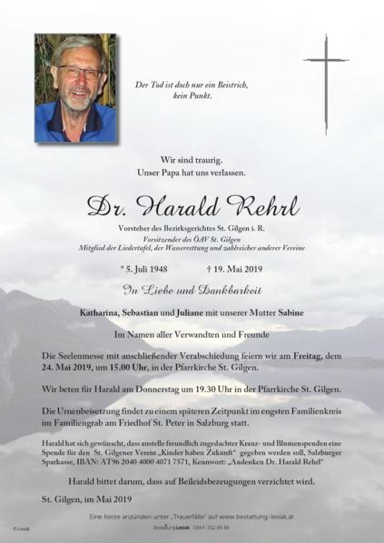 Dr. Harald Rehrl