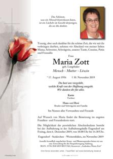 Maria Zott