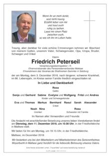 Friedrich Peterseil