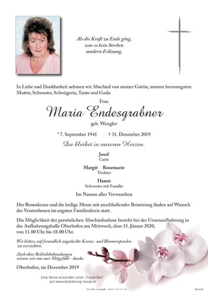 Maria Endesgrabner
