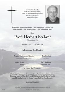 Prof. Herbert Stehrer
