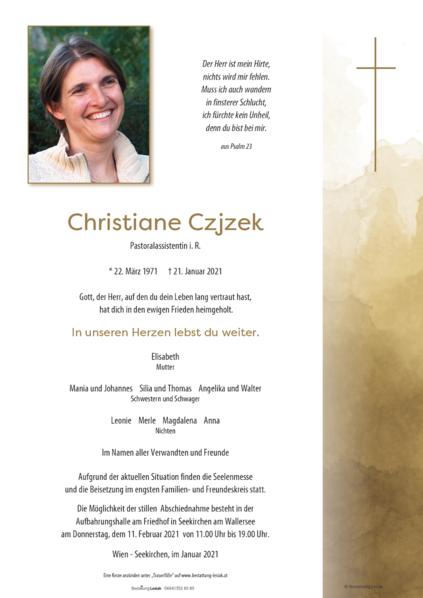 Christiane Czjzek