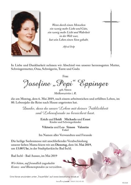"Josefine ""Pepi"" Eppinger"