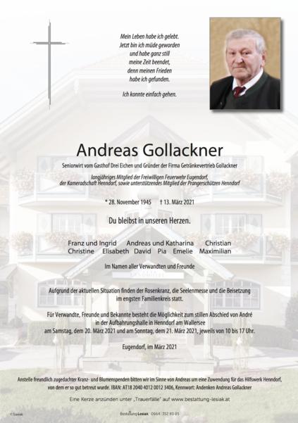 Andreas Gollackner