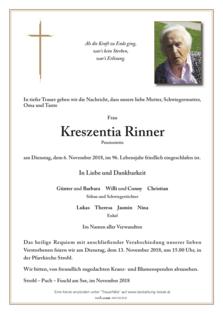 Kreszentia Rinner