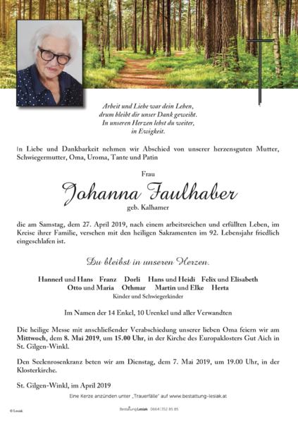 Johanna Faulhaber
