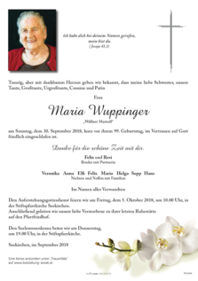 Maria Wuppinger