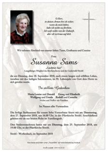 "Susanna Sams ""Liachtner Susi"""