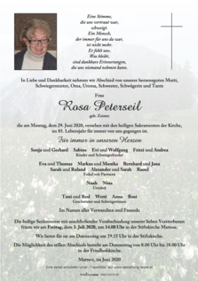 Rosa Peterseil