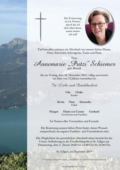 """Annemarie """"Putzi"""" Schiemer"""