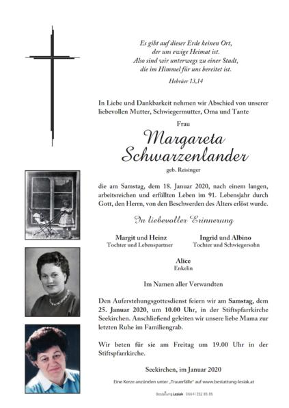 Margareta Schwarzenlander