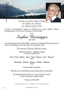 Sophia Bernögger