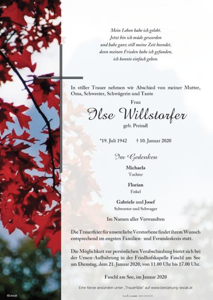 Ilse Willstorfer