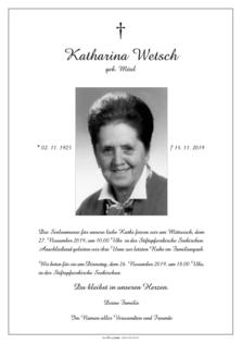 Katharina Wetsch